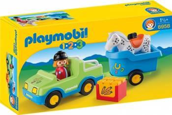 1.2.3. MASINA CU REMORCA SI CAL Playmobil Machete