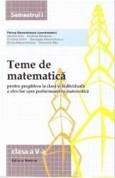 2014 Teme de matematica cls 5 sem. 1 - Petrus Alexandrescu