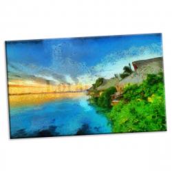 pret preturi Tablou canvas printat digital - Traschio - 90x54 cm