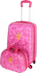 pret preturi Set Troler + Geanta mana Disney Prinsessia roz 55 x 35 x 22 cm