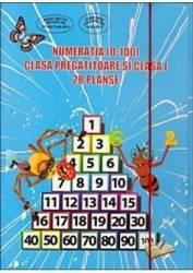 28 Planse - Numeratia 0-100 clasa pregatitoare si cls 1