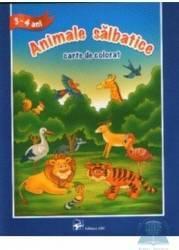 3-4 Ani - Animale salbatice - Carte de colorat