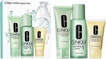 Pachet Promo Clinique 3 Step Skin Care System 1 - Dry Skin