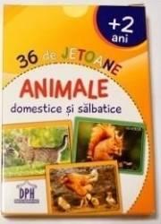 36 de jetoane - Animale domestice si salbatice 2 ani+