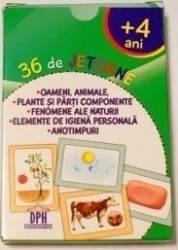 36 de jetoane - Oameni animale plante fenomene ale naturii elemente de igiena anotimpuri 4 Ani+