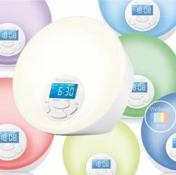45110 Ceas desteptator cu radio tip alarma WL 444 8 memorii radio lumina pentru trezire 7 culori Ceasuri si Radio cu ceas