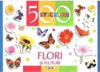 500 Stickere - Flori si fluturi Carti