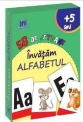56 de jetoane invatam alfabetul 5 Ani+