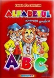 A5 - Alfabetul - Exercitii grafice - Carte de colorat