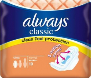 Absorbante Always Classic Normal Plus 10 buc Igiena intima