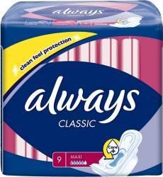 Absorbante Always Classic super Plus 9 buc Igiena intima