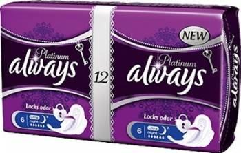Absorbante Always Platinum Night Duo 12 buc Igiena intima