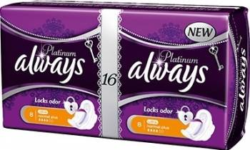 Absorbante Always Platinum Normal Plus Duo 16 buc Igiena intima