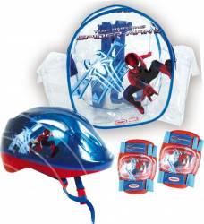Accesorii Trotineta Darpeje Set Protectie Spiderman Casca Genunchiere Si Cotiere
