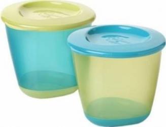 Accesoriu Tommee Tippee Explora Blue Food Lid Dish Set Cani, pahare, accesorii masa