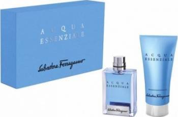 Apa de Toaleta Acqua Essenziale 100ml + 150ml Shower Gel by Salvatore Ferragamo Barbati 100ml+150ml Parfumuri de barbati