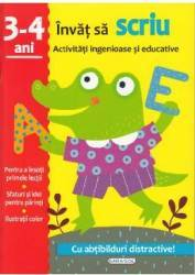Activitati ingenioase si educative Invat sa scriu 3-4 ani Carti