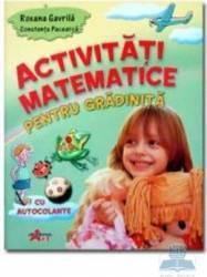 Activitati matematice pentru gradinita cu autocolante - Roxana Gavrila Constanta Pacearca