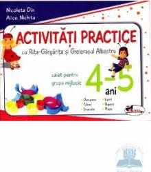 Activitati practice 4-5 ani grupa mijlocie caiet - Alice Nichita Nicoleta Din