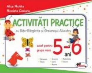 Activitati practice 5-6 ani grupa mare Caiet - Alice Nichita Nicoleta Ciobanu Carti