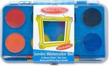 Acuarele Jumbo set de 8 culori cu pensula Melissa and Doug Rechizite