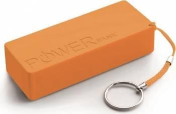 Acumulator Extern Power Bank Quark XL 5000mAh Portocaliu Baterii Externe