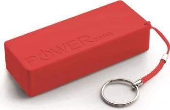 Acumulator Extern Power Bank Quark XL 5000mAh Rosu Baterii Externe