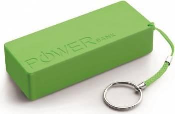 Acumulator Extern Power Bank Quark XL 5000mAh Verde Baterii Externe