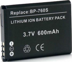 Acumulator Power3000 tip BP-760S pentru Kyocera Yashica 600mAh