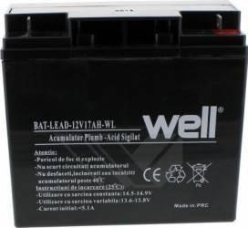 Acumulator plumb acid Well 12V 17AH Acumulatori UPS