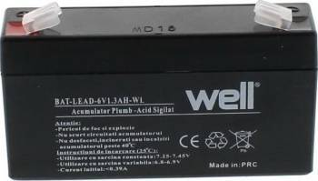 Acumulator plumb acid Well 6V 1.3AH