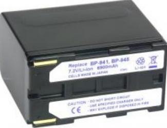Acumulator Power3000 tip BP-941 pentru Canon 6900mAh Acumulatori si Incarcatoare dedicate