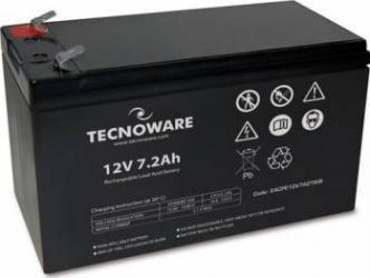 Acumulator UPS Tecnoware 12V 7.2AH Negru Acumulatori UPS
