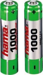 Acumulatori Hama NiMH 2xAAA 1000mAh Acumulatori Baterii Incarcatoare