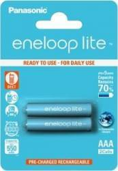Acumulatori Panasonic Eneloop Lite R03 AAA 550mAh - 2 buc. blister Acumulatori Baterii Incarcatoare