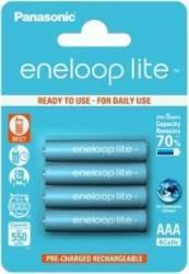 Acumulatori Panasonic Eneloop Lite R03/AAA 550mAh 4buc Acumulatori Baterii Incarcatoare