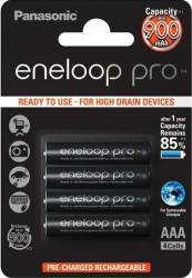 Acumulatori Panasonic Eneloop Pro R03 AAA 930mAh - 4 buc. blister