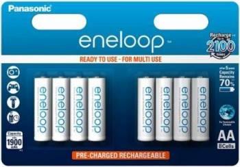 Acumulatori Panasonic Eneloop R6/AA 1900mAh 8buc Acumulatori Baterii Incarcatoare