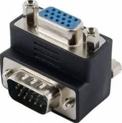 Adaptor 4World 08739 D-SUB la 90 de grade Negru Adaptoare