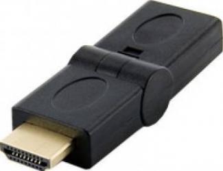 Adaptor 4World HDMI unghi 180 Negru