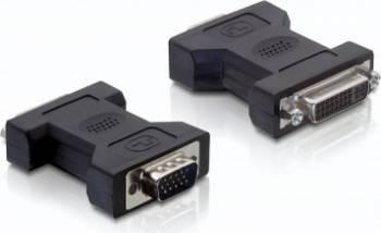Adaptor Delock DVI-I Dual Link 24+5pini la VGA M-T Adaptoare