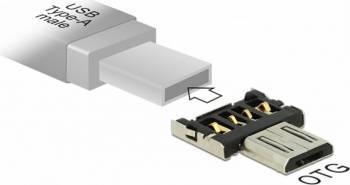 Adaptor Delock micro USB-B OTG pentru USB-A Accesorii telefoane mobile