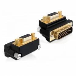 Adaptor Delock VGA T la DVI 24+5 pini M in unghi de 270 grade Adaptoare