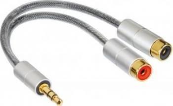 Adaptor Hama 80859 3.5mm Stereo la 2RCA Cabluri Audio