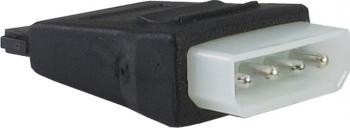 Adaptor Inter-Tech alimentare Molex la SATA 4.5 cm Negru