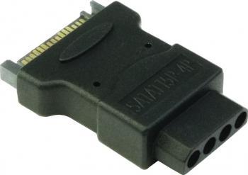 Adaptor Inter-Tech alimentare SATA la Molex 4.5 cm Negru Adaptoare