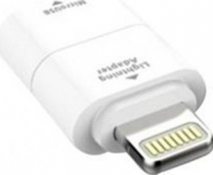 Adaptor incarcare date Kit Micro USB Lightning Alb