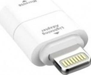 Adaptor incarcare date Kit Micro USB Lightning Alb