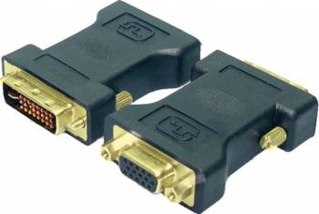 Adaptor LogiLink AD0001 DVI-I Male la VGA DSUB Female Negru Adaptoare