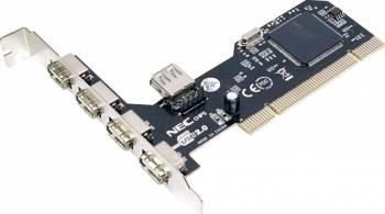 Adaptor LogiLink PC0041 PCI la 4x USB 2.0 extern + 1x USB 2.0 intern